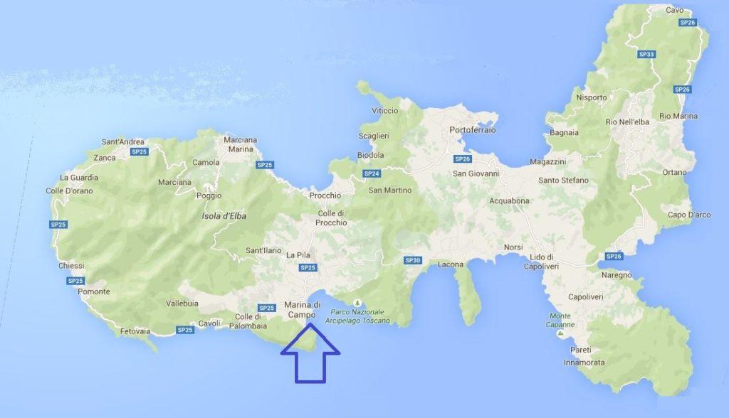 marina di campo lage google