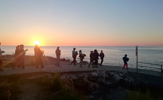 Meditation zum Sonnenaufgang Yogaferien