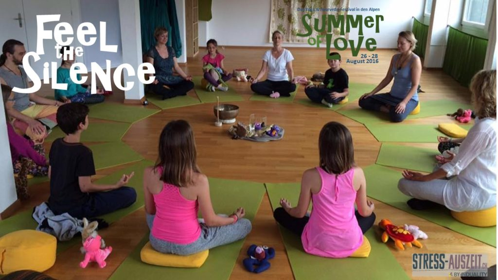 Yoga festival kids meditation Kindermeditation