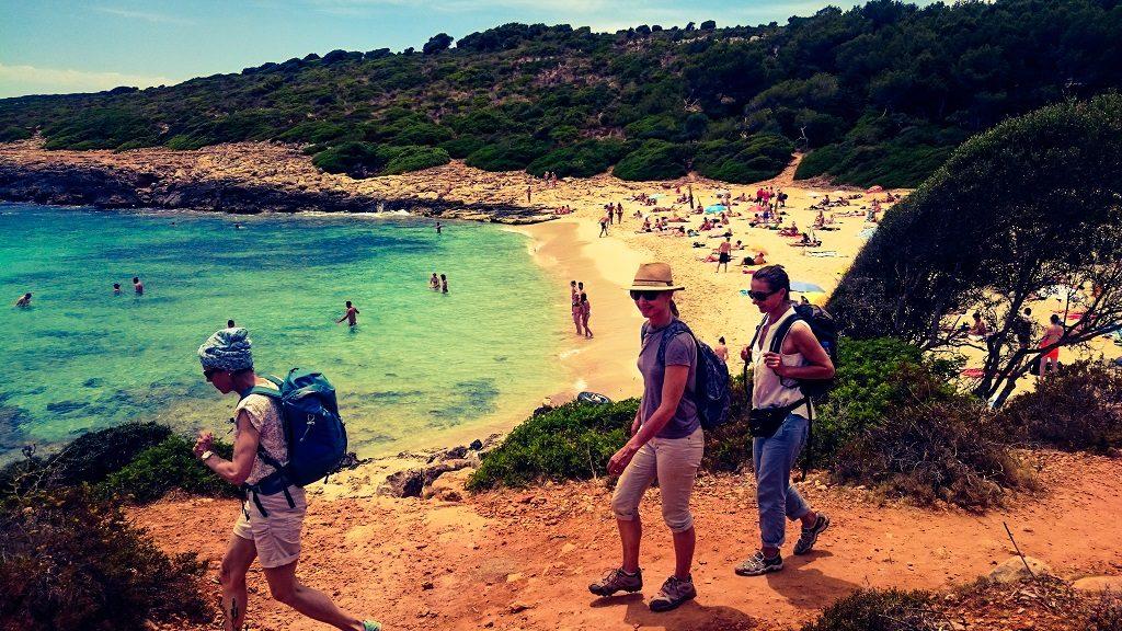 Yogaferien am Meer Wanderausflug Cala Romantica Baden und Wandern Internet